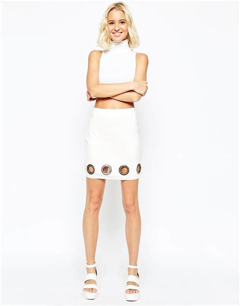 asos asos mini skirt with dolphin hem simple white mini skirt canifa