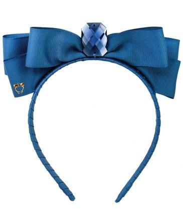 B56 Satin Twisted Flower Wide Headband Bandana Bunga Satin kuching cat smoke blue sereni shentel
