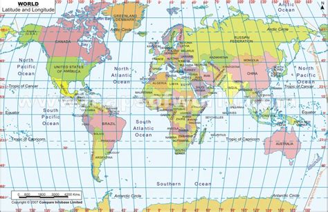 printable world map with lat and long capocci longitude and latitude