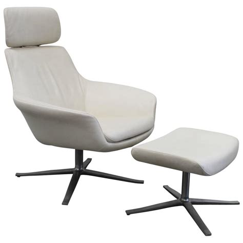 Armchair And Stool by Walter Knoll Oscar Armchair And Stool In Leather By Pearsonlloyd For Sale At 1stdibs