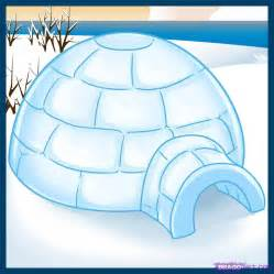 Draw On Pictures how to draw an igloo step by step buildings landmarks amp places