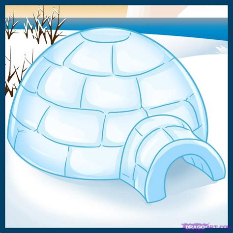 igloo house how to draw an igloo step by step buildings landmarks places free drawing