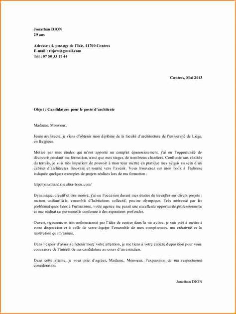 Modele De Lettre De Motivation Pour Un Stage Ouvrier 8 Lettre De Motivation Stage Architecture Exemple Lettres