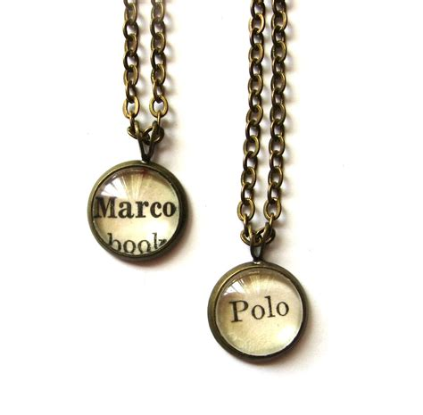 diy best friend necklaces marco polo matching best friend necklaces vintage by writtennerd 42 00 everything awesome