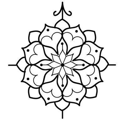 mandala tattoo template simple clipart mandala pencil and in color simple