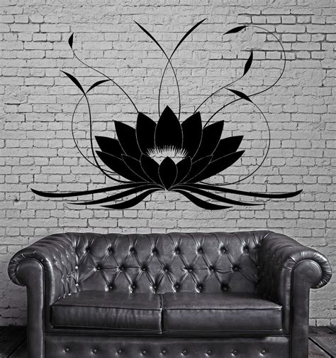 tattoo home decor lotus flower buddha wall stickers yoga studio meditate