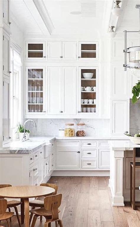 gorgeous white kitchen  super high ceiling