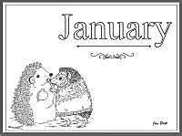 coloring pages for the month of january months of the year main