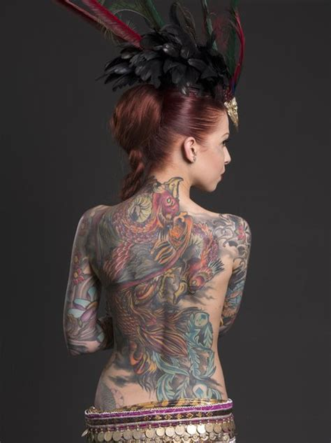 tattoo festival london 2015 sasha flexy shows off her amazing tattoos as part of the