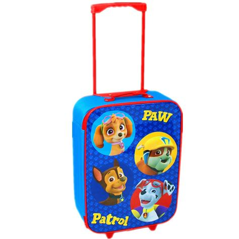 paw patrol school travel trolley luggage backpack