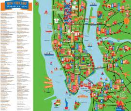 New York Map by Tourist Attractions In New York Map