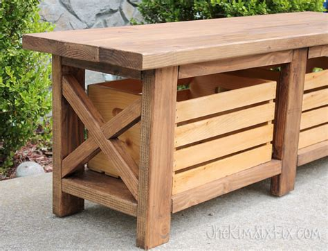 build a wooden storage bench 19 bodacious backyard storage ideas tips hacks you need