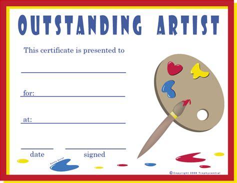 printable art awards free art certificates certificate free art