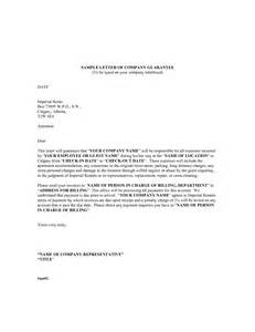 Sle Letter Of Guarantee Rent Business Letter Of Guarantee Sle 28 Images Letter Of