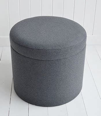 westhampton grey storage dressing table stool  white