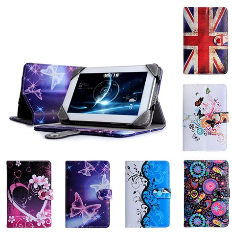 Leather Universal 7inch universal 7 quot inch pu leather wallet cover folio stand for android tablet pc ebay