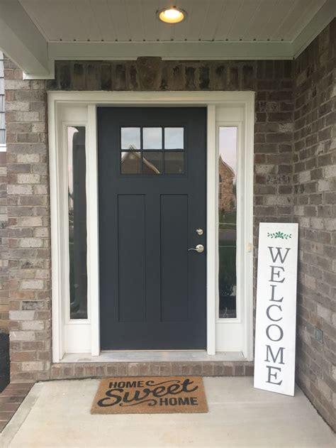 benjamin moore wrought iron  front door color