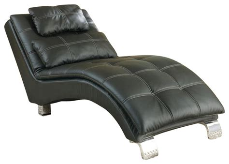 contemporary chaise lounge chairs coaster casual and contemporary living room black chaise