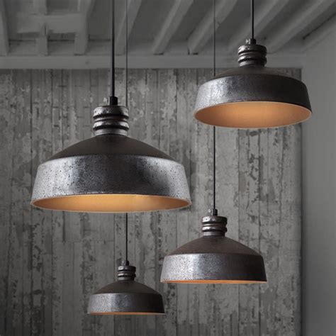rustic kitchen lighting fixtures cool industrial pendant lights pinteres