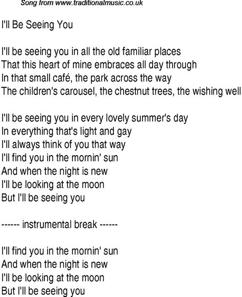i ll be you and you be me a vintage ode to friendship and 1940s top songs lyrics for i ll be seeing you