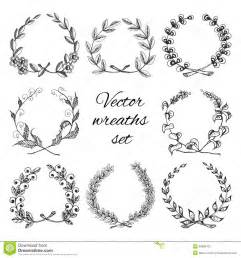 hand drawn wreaths stock vector image 39869763