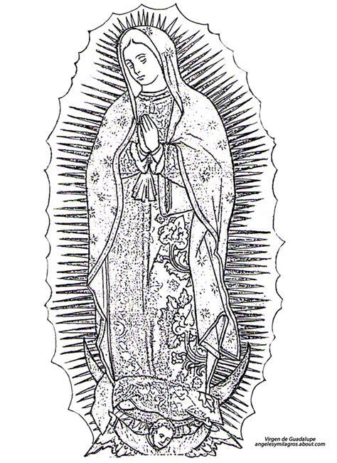 imagenes sencillas de la virgen maria imagenes virgen de guadalupe para colorear