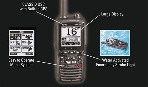 Power Lifier Sound Standard Ca 18 standard horizon hx870 floating 6w handheld vhf with