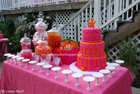 themed sweet 16 decorations the baking sheet tropical themed pink orange quot sweet 16