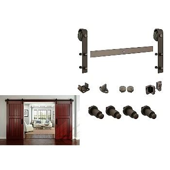national hardware sliding door track national n186 960 sliding door track w hardware rustic