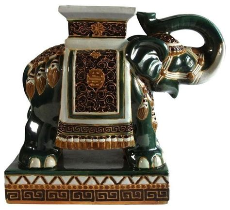 elephant end tables ceramic pre owned colorful ceramic elephant table side