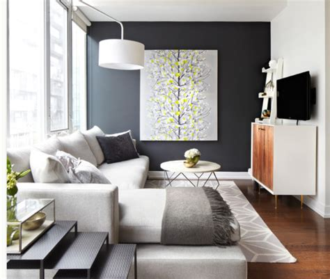 Interior Design Ideas Grey Walls by The Accent Wall And The Pop Of Color In