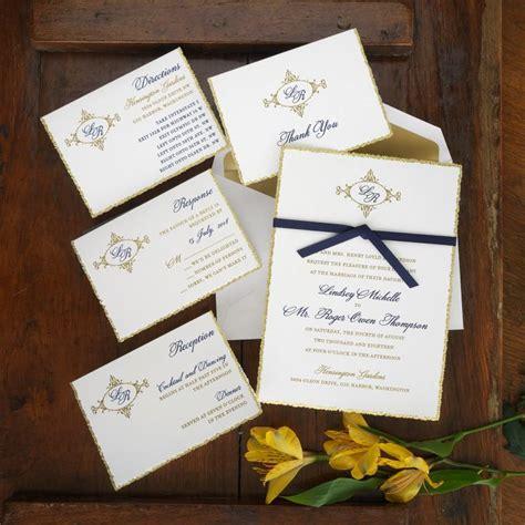 vellum wedding invitation set raised thermography - Custom Wedding Invitations Thermography