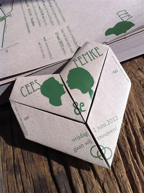 origami wedding invitations origami wedding invitation on behance