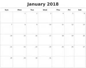 Calendar Maker Free January Calendars
