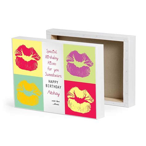 special birthday kisses canvas birthday gifts for