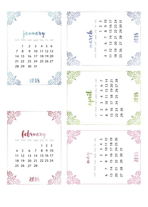 Free 2018 Calendar Already Yep Some 2018 Calendars Calendar The Pretty
