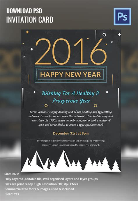 New Year Invite Templates Free by 28 New Year Invitation Templates Free Word Pdf Psd