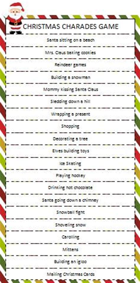 christmas party games for church groups charades munchkins