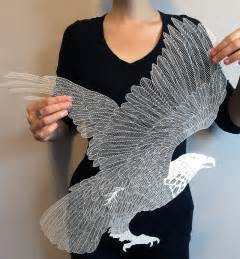 incredibly intricate cut paper by maude white