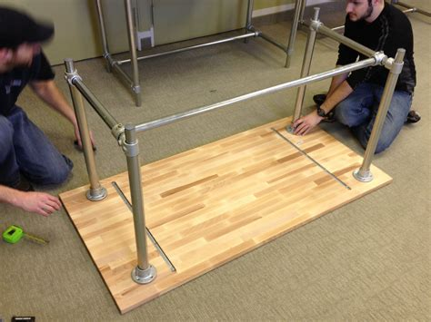 diy adjustable height table legs adjustable height sitting and standing desk