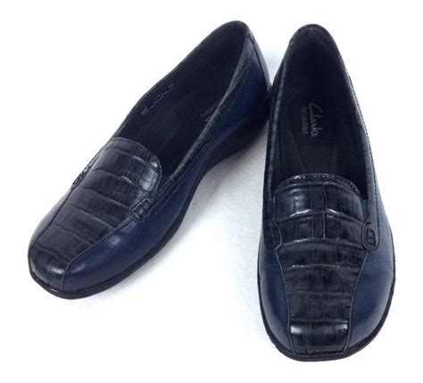 navy blue loafers womens clarks shoes womens navy blue leather comfort loafers 6 5
