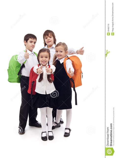 imagenes escolares de primaria ni 241 os felices de la escuela primaria aislados foto de