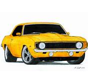 1969 Chevrolet Camaro SS Pro Touring Drawing By
