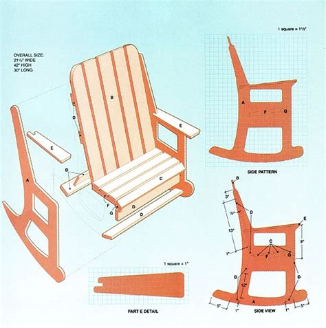 rocking chair template 20130511 wood work