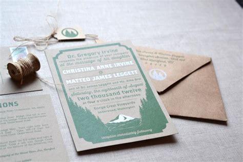 Screen Printing Wedding Invitations by Matteo S Screen Printed Woodland Wedding Invitations