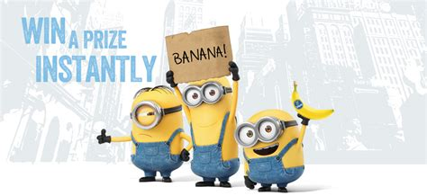 Minions Love Bananas Instant Win - chiquita banana minions sweepstakes instant win game