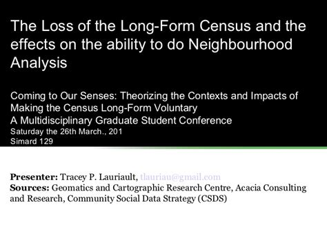 the long form census is back and were elated the loss of the long form census and the effects on the