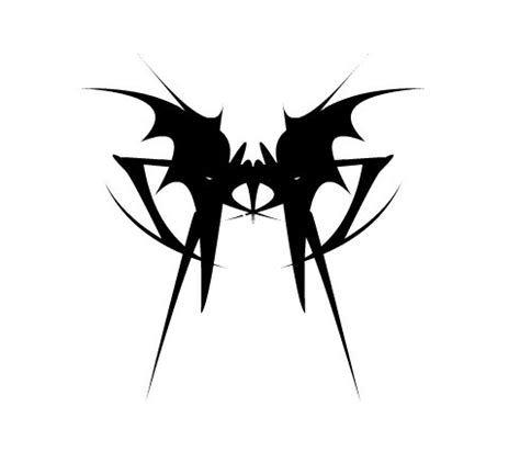 void tattoo design great black ink bat emblem design by dead