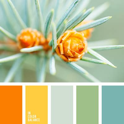 spring color schemes natural combination of rich orange gentle yellow silver