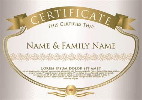 elegant certificate template vector design 09 vector